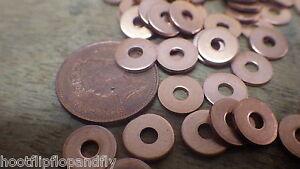 50-x-Solide-Rondelle-en-cuivre-10g-cuivre-tuyau-laveurs-PLAT-2-5mm-x-9mm