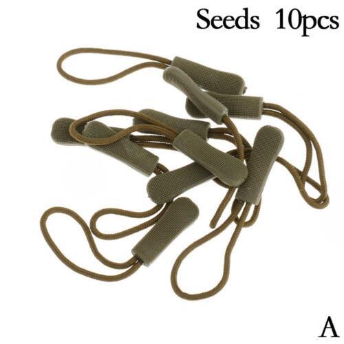 10Pcs Anti Rutsch Reißverschluss Schnur Seil Zip Puller Reißverschluss Ersa B2H6