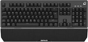 KEYBOARD TASTATUR PC USB GAMING BELEUCHTET LED RGB halb mechanisch mechanical
