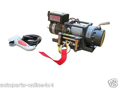 Warrior C4500 NINJA 12v Winch with Red Armortek Synthetic Rope
