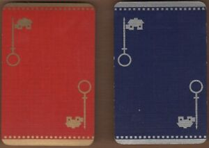 Playing-Cards-2x-Single-Card-Old-NATIONAL-BUILDING-SOCIETY-Advertising-HOUSE-KEY