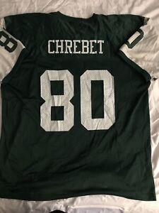 Details about Vintage Starter New York Jets Wayne Chrebet Jersey sz 54 2XL Throwback Green NFL