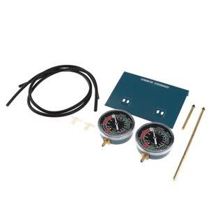 Fuel-Vacuum-Carburetor-Synchronizer-Sync-Gauge-2-Carb-Set-Pour-Moto-ex-P3D9