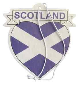 Car Air Freshener Souvenir Lemon Fragrance Scotland Saltire in Love Heart