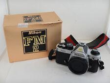 Nikon FM2 FM 2 + Scatola Box Nikkor Reflex Silver 35mm SLR
