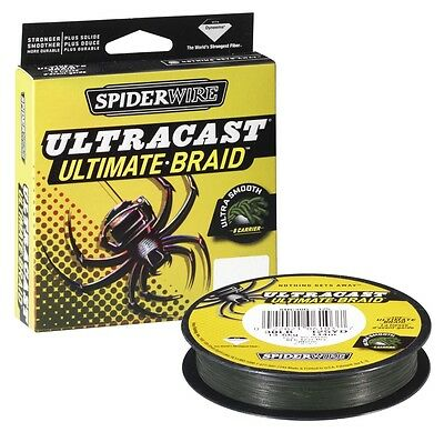 Spiderwire Ultracast 8 Ultimate-Braid 110m Yellow 0.12mm//9.1kg