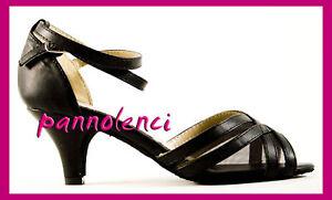Scarpe-da-ballo-danza-donna-35-NERO-retina-504-101