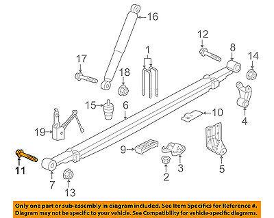 GM OEM Rear Suspension-U-bolt Plate 25761310