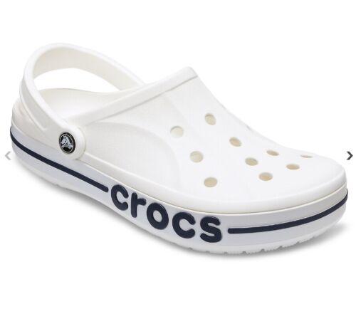 Crocs Adult Unisex Bayaband Clogs Croslite Sandle New Size for 2019 White Color