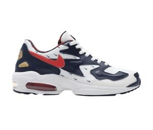 Correctamente Alrededores probable  Nike Air Max 2 Light 'USA' White Navy Blue Red Shoes Men's Size 11  (CK0848-100) | eBay