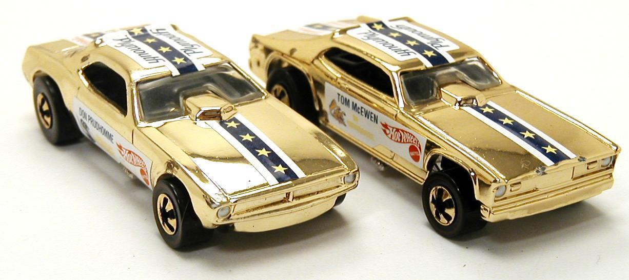 Serpiente y mangosta Funny Cars Hot Wheels oro II FAO Schwartz 1995