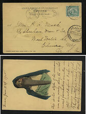 Egypt  44 on nice post card to  US   1905                APL0405