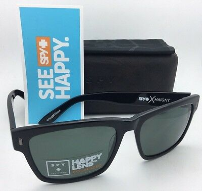 41e0d9a731 Polarized SPY OPTIC CROSSTOWN Sunglasses HAIGHT Black Frames w Grey Green  Lenses