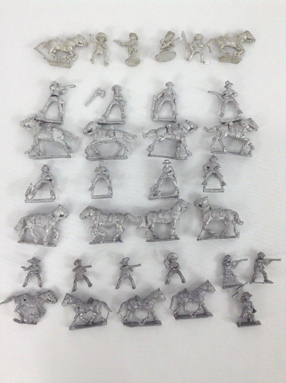 Lot of Horse Mounted Men Metal Miniatures Wargaming