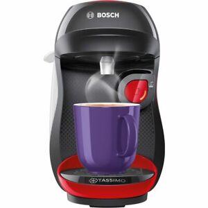 Tassimo by Bosch TAS1003GB Happy Pod Coffee Machine 1400 Watt Red / Black
