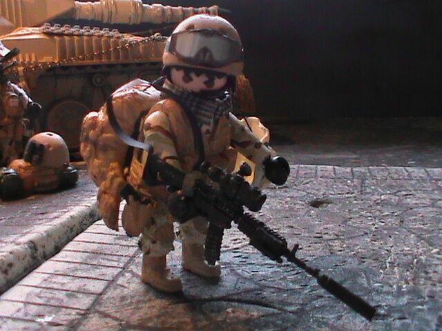 PLAYMOBIL PERSONNALISÉ US DELTA FORCE  (AFGHANISTAN -2015) REF-0184 BIS  Miglior prezzo