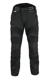 Black-Tab-Air-Mesh-Motorcycle-Trousers-CE1621-1-Armour-Remove-Waterproof-Liner