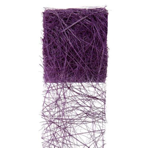 Dekoband abaca 7 cm x 5 M violet table Bandes ponçage bandes Cadeau Bandes