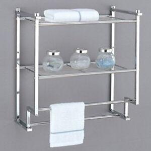 Image Is Loading Towel Rack Bathroom Shelf Organizer Wall Mounted Over