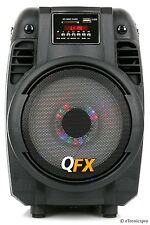 QFX PORTABLE TAILGATE BLUETOOTH PARTY PA SPEAKER USB/SD FM TUNER with LIGHTS NEW