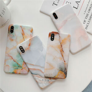 For-iPhone-11-Pro-XS-MAX-XR-X-7-8-Plus-Soft-Case-Luxury-Jade-Marble-Phone-Cover