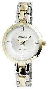 Excellanc-Damenuhr-Silber-Gold-Analog-Metall-Quarz-Armbanduhr-X1800146002