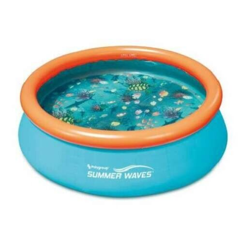 Alberca Inflable Piscina Para 4 Ninos Ninas de 240cm Redonda Blow Up Kids Pool