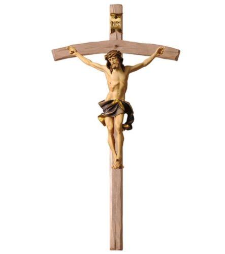 Kruzifix Nazarener in Holz der in Gröden geschnitzt und Handbemalt CM 46x24