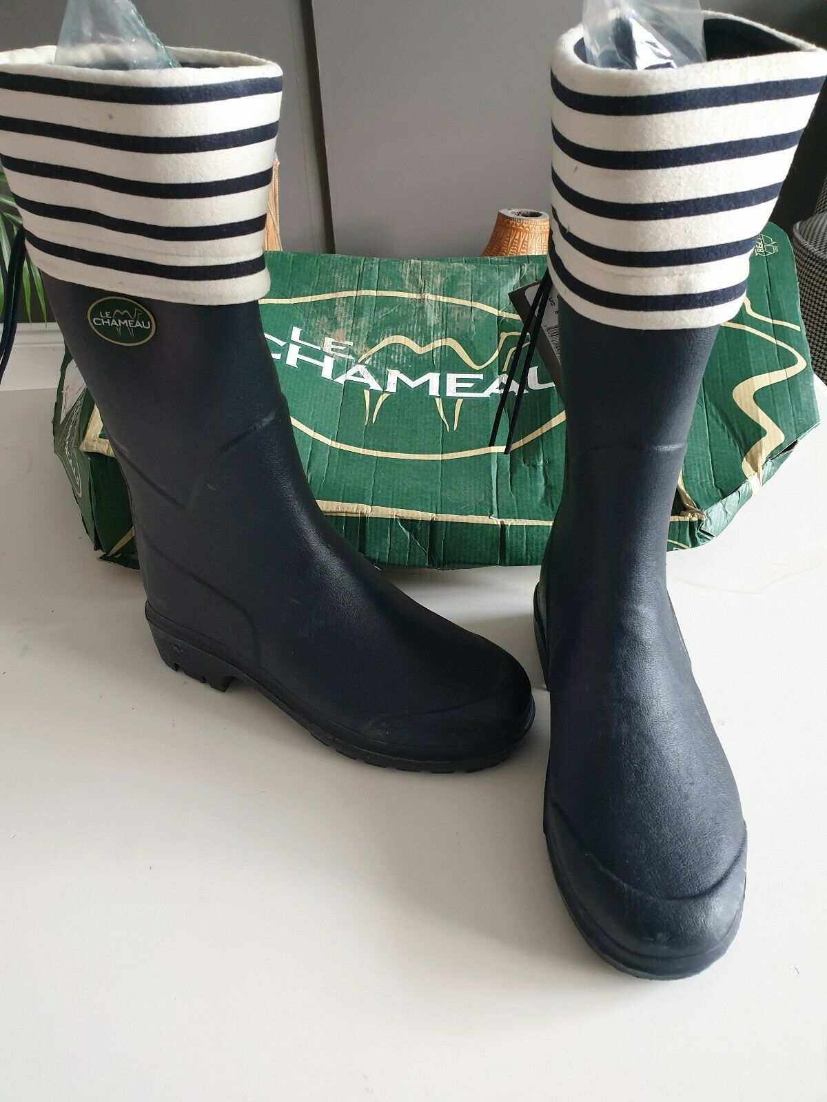 Le Chameau Clan Marine Rubber Mid  Boots Size 38 bluee Marine NEW
