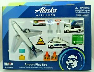 Alaska Airways Airplane Airport Playset Truck Signs Etc Daron Toys Diecast Ebay