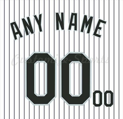 Basdeball Chicago White Sox White Home Jersey Customized Number Kit un-stitched