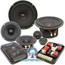"""CDT AUDIO ES-0642i 6.5"""" 4"""" 250W RMS 3-WAY EXTENDED BASS COMPONENT SPEAKERS NEW"""