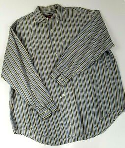 Austin Reed London Mens Xxl Big Man Striped Long Sleeve Shirt Ebay