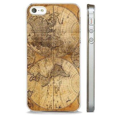 Antico mappa mondo vintage chiaro Telefono Custodia Cover si adatta iPHONE 5 6 7 8 X | eBay