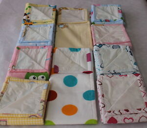 Muslin-Waterproof-Flannel-with-oilcloth-100-Cotton-50x60cm-20-24in-Nappy-Bibs