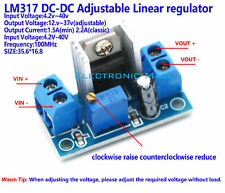 LM317 DC-DC step down converter 4.2V-40V to 1.2V-37V linear voltage regulator QE