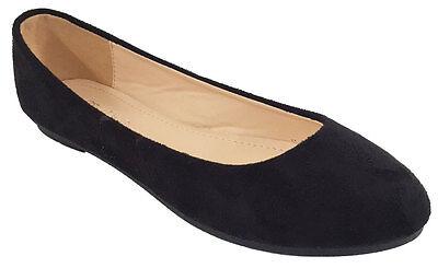 Nuevo Para Mujer Bailarina Ballet Escuela Dolly Bombas Damas Negro Flat Zapatos Talla Uk