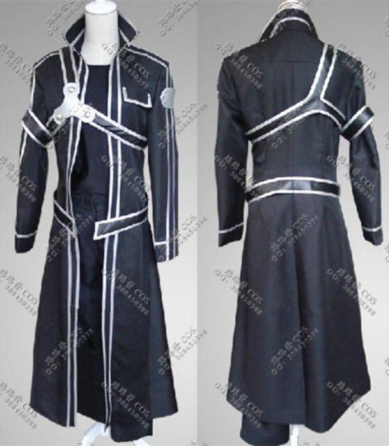 Sword Art Online Kirito Kirigaya Kazuto Anime Cosplay Costume Any Size Full Set