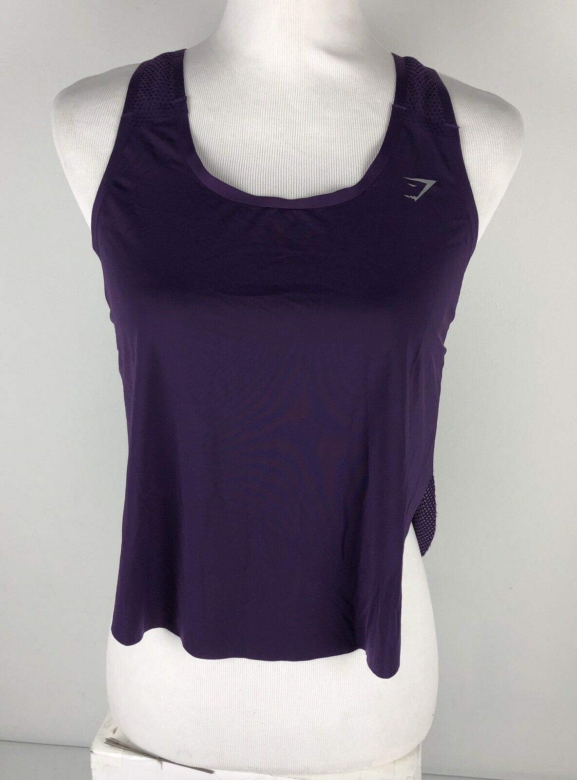 Gymshark Womens Small Aptitude Cropped Vest Purple Tank Top Sleeveless EUC