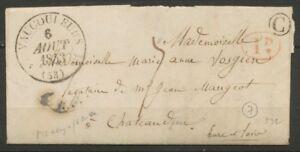 1843-Lettre-CAD-Vaucouleurs-T12-1D-rural-rouge-Boite-rurale-C-Maxey-TB-P831