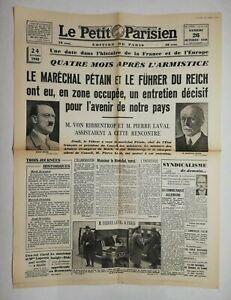 N645-La-Une-Du-Journal-Le-petit-Parisien-26-octobre-1940-marechal-Petain-fuhrer