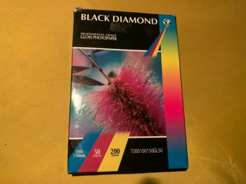 Black Diamond Photo Paper  200 gsm 100x150mm Professional Grade Brand New