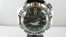 """F46⭐⭐ Vintage """" Russian """" Poljot Boctok with Fighter jet MIG Military Army """" ⭐⭐"""