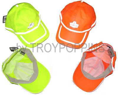 aaa7990e2 ERGODYNE WORK GEAR-1-GLOWEAR #8930 BASEBALL HAT HV REFLECTIVE SUN SAFETY  VENTED | eBay