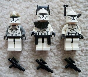 LEGO-Star-Wars-Clone-Wars-Original-8014-Minifigs-Commander-Gunner-amp-Trooper