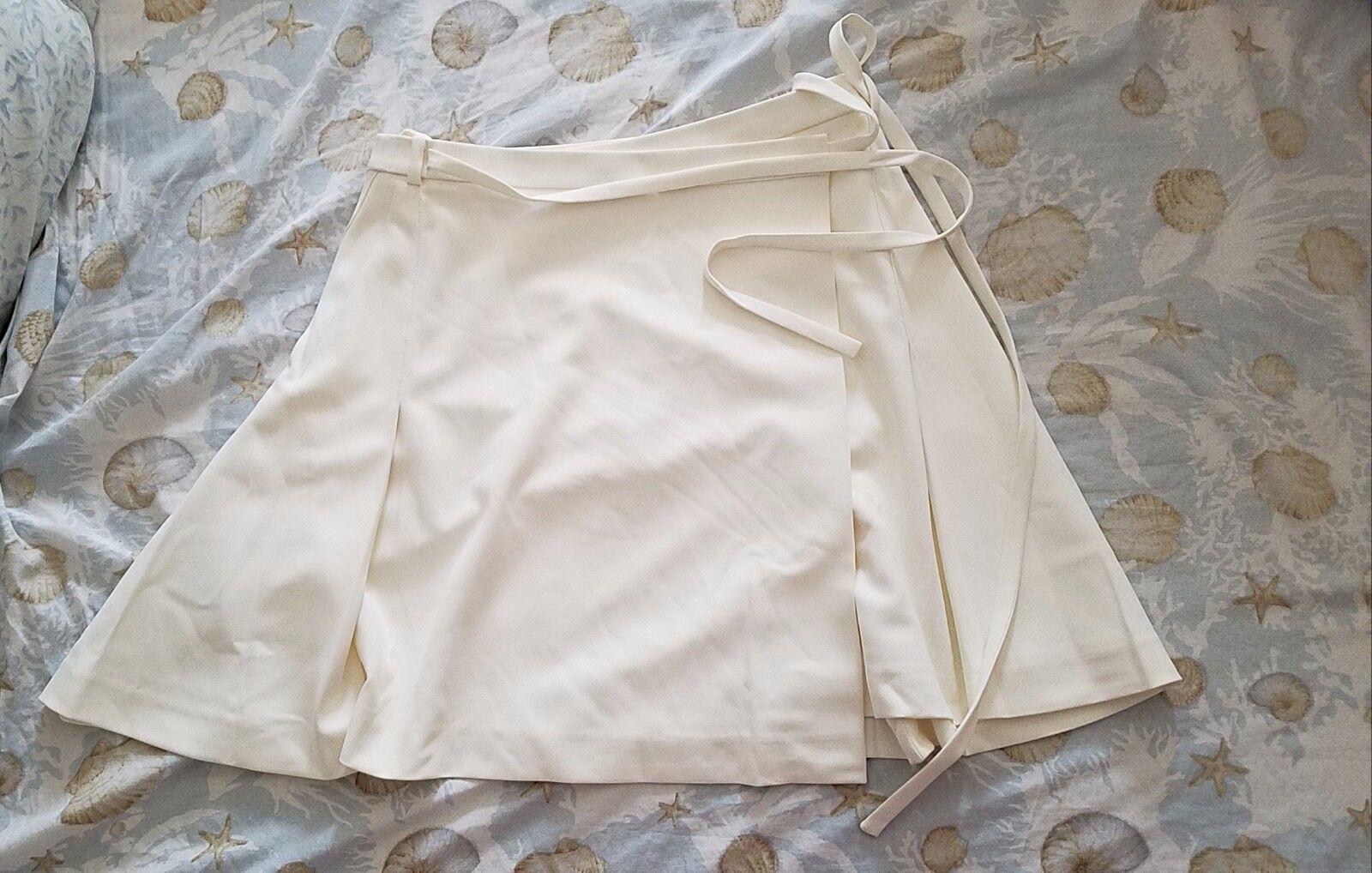 New T by Alexander Wang white wrap short skirt- Size 4 (adjustable waist)