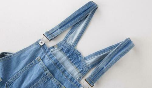Womens Ladies Fashion Denim Suspended Shorts Summer Casual Overalls Rompers 3929