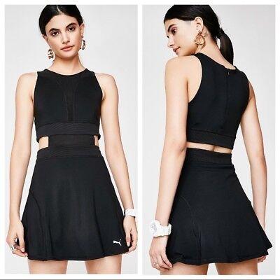 Puma Women's Balance Athleisure Sleeveless Cut Out Dress, Black Size Large