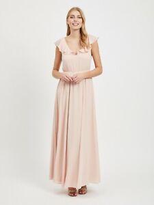 Super baratas cómo llegar sin impuesto de venta Detalles de Vila Vestido Mujer Largo Boda Virannsil Maxi Vestido Rosas  Verano 2019