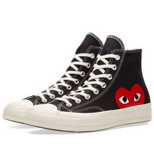 Comme des Garcons Play x Converse Chuck Taylor Black High Trainers ... 1a133f094304